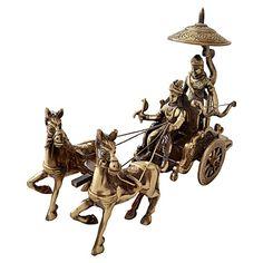 Ethnic Brass Krishna Arjun Rath India - ET594DE54YLHINDFUR - FabFurnish.com