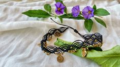 Hey, I found this really awesome Etsy listing at https://www.etsy.com/il-en/listing/292660133/macrame-anklet-black-anklet-boho-anklet