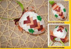 Velikonoční+vajíčko+Vajíčko+tvořené+falešným+patchworkem.+6+cm