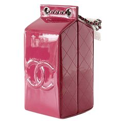 04560955324f CHANEL bag LIMITED EDITION Milk Carton Dark Pink Fuchsia patent leather |  From a collection of