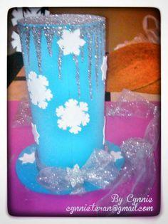 Parte posterior de Sombrero Loco inspirado en la Princesa Elsa de la película FROZEN. CynnieBoo  cynnie.teran@gmail.com