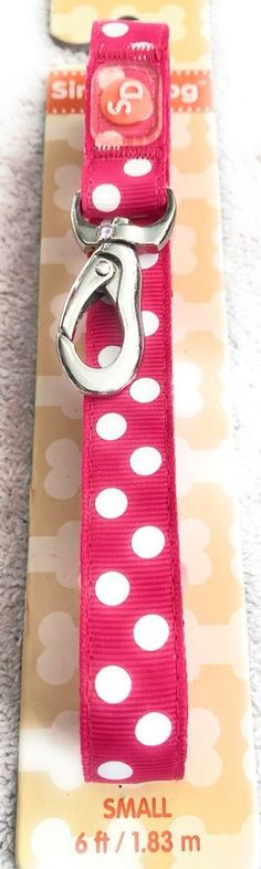 Dog Leash Size Small Pet Puppy Pup Pink Color With White Dots  | eBay