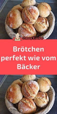 Buns, perfect as from a baker-Brötchen, perfekt wie vom Bäcker Buns, perfect as from a baker - German Baking, Good Food, Yummy Food, Vegetable Drinks, Pampered Chef, Healthy Eating Tips, Easy Cooking, Bread Baking, Bread Recipes