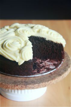 Chocolate Coconut Milk Cake (not very strong taste, even if substituted with coconut cream)
