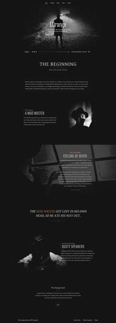Unique Web Design, L'Orange @gustavomeloweb #WebDesign #Design (http://www.pinterest.com/aldenchong/)