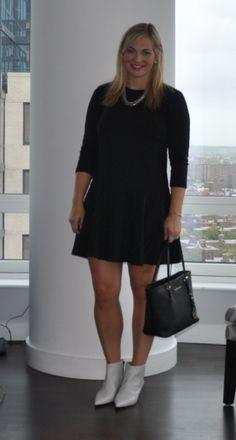 Black & Booties @LOFT dress