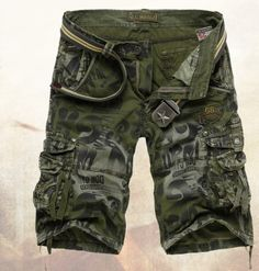 Hot-sale 2014 Summer New Arrival Men's Cargo Shorts Camouflage Pants Multi-pocket Trousers Cotton Casual Sport Board Shorts Men US $28.50