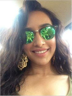 Shraddha Kapoor is busy with promoting her upcoming film, yet she managed to click a selfie and flaunt her shades !