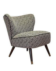 The Bartholomew Chair in Bhutan Lattice in Black