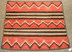 Native American Indian Navajo Weaving Chiefs Blanket Rug Circa 1910
