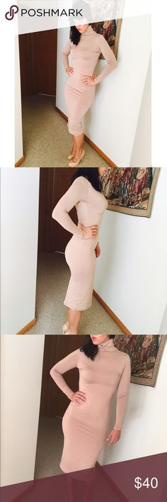KIM K STYLE NUDE DRESS New dress. Boutique bought, worn only for pics, new but no tags. Size medium, true to size. NO TRADES OFFERS WELCOME Boutique Dresses Midi