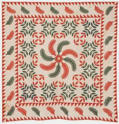 Barbara Brackman's MATERIAL CULTURE  Quilt signed Margaret Boone in the collection of the New England Quilt Mueum