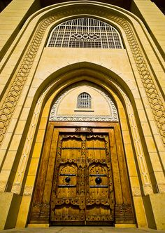 This door manufactured in india in Imported from Basra, Iraq in 1828 and has been used as the old Al nusf diwaniya door in sharq. The door has been placed as the main gate for Al nusf family diwaniya in Abdulla al salim Area. Photo /Fahad Al Nusf Grand Entrance, Entrance Doors, Doorway, Cool Doors, Unique Doors, Portal, Door Knockers, Door Knobs, Porches