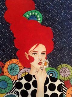 Por amor al arte: Hülya Özdemir Art And Illustration, Watercolor Illustration, Drawing Tutorials For Kids, Arte Pop, Portrait Art, Painting Inspiration, Art Pictures, Illustrators, Folk Art
