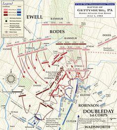 McPherson's Ridge Battle Of Gettysburg | battle-of-gettysburg-oak-ridge-july-1.jpg