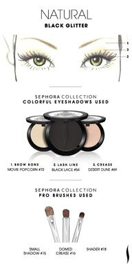 NATURAL: Black Glitter HOW TO. #sephoracollection #sephora #eyeshadow