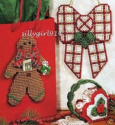 FREE CHRISTMAS PLASTIC CANVAS PATTERNS | Santa Claus and Christmas