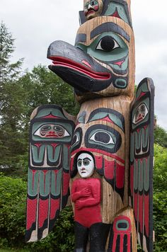 Native art tells the story of its people in Ketchikan, Alaska.