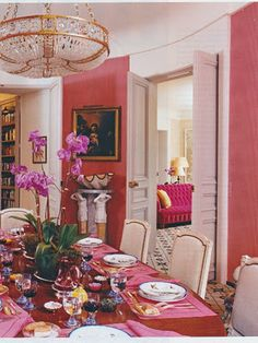 dining room, Paris - designed by Jacques Grange