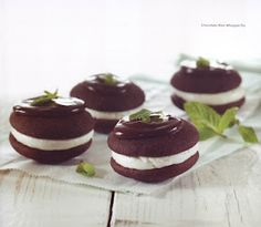 Mint whoopie pies.  Jenny, I might have to try this!