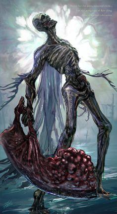 Dark Fantasy, Fantasy Art, Angle And Demon, Anime Manga, Anime Art, Arte Dark Souls, Bloodborne Art, Dark Art Tattoo, Angel And Devil