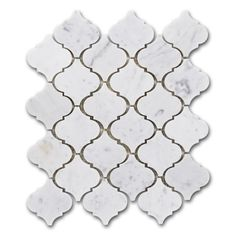 $16.95 Arabesque Carrara Bianco Marble Mosaic Tile from TheBuilderDepot.com. Amazing stone from Italy cut into a classic Moroccan artistic style. #arabesque #Carrara
