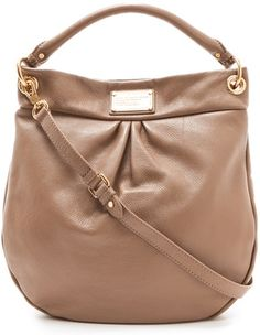 Marc by Marc Jacobs Classic Q Hillier Hobo in Praline