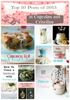 Top 10 Posts of 2013 at Cupcakes and Crinoline
