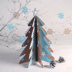 decorar diy handmade hecho a mano arbol de navidad de carton self packaging