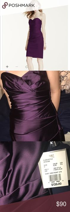 Bridesmaid dress/ formal dress/ prom The dress is a size 0. It is plum in color. Dresses Strapless