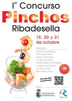 El I Concurso de Pinchos de Ribadesella se celebrará los días 19, 20 y 21 de Octubre, y contará con la participación de 15 establecimientos.