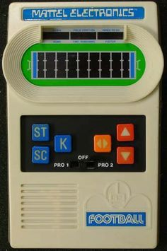 Mattel Electronic Football - played for hours.