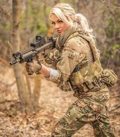 Amie Austin Also go check out our partners 1776 Supp. Military Girl, Warrior Girl, Female Soldier, Military Women, Weapons Guns, Girls Uniforms, Cool Guns, Badass Women, Sexy Hot Girls