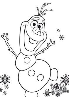 Dibujo de olaf de frozen para colorearDibujo de olaf de frozen para colorear