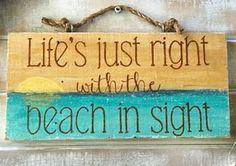 Beach signs beach decor beach quotes beach sayings ocean Arte Pallet, Pallet Art, Beach Cottage Style, Beach House Decor, I Need Vitamin Sea, Beach Room, Beach Art, Bathroom Beach, Beach Quotes