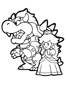 bowser coloring page - Super Mario Bowser Coloring Pages