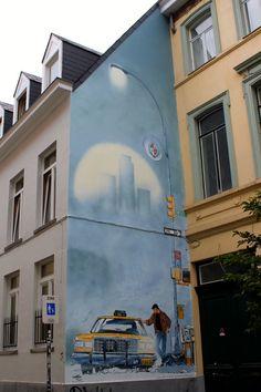 Wall Art in Brussels, Belgium #streetart
