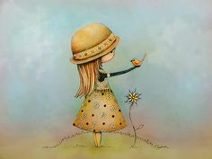 """Ilustración """"summer days are golden"""" by Karin Taylor"""