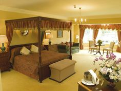 Room 219. One of the Junior Suites at Nuremore Hotel. Its popular as the Bridal Suite! Maybe its the four poster bed!