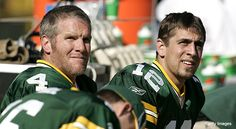 Brett Farve and Aaron Rodgers