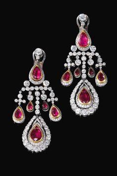 Ruby an diamond earrings.