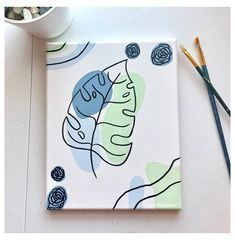 Small Canvas Paintings, Easy Canvas Art, Small Canvas Art, Cute Paintings, Mini Canvas Art, Diy Canvas, Canvas Wall Art, College Canvas Paintings, Canvas Painting Designs