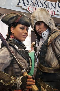 Aveline and Connor Cosplays -- Damn, it looks like they stepped right out of the game!
