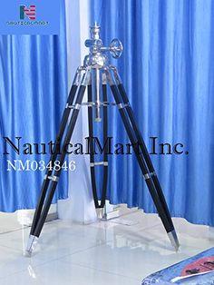 Solid Brass Antique Style Wooden Tripod Telescope Marine Navy Island Nautical