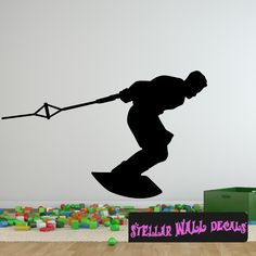 Wakeboarding ST001 Sports Icon Wall Mural - Vinyl Wall Decal - Sticker SWD