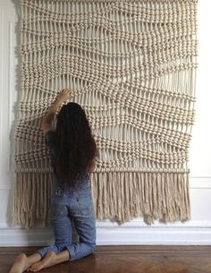 Wandering Macrame Wall Hanging- do in shape of mountains and dye green?