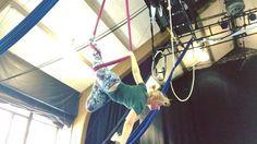 New tricks to work on! #aerial #aerialist #aerialists #aerialistsofig #aerialsilks #aerialsling #aerialhammock #tissuloop #circus #circusschool #circuschicago #actorsgymnasium #actorsgym