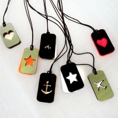 NEW super cool handmade plexiglass tag pendants create your own combination!