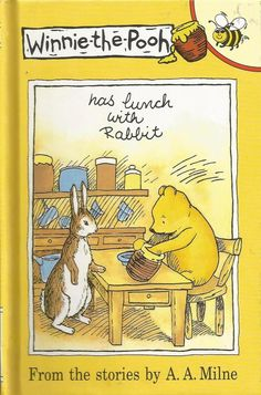 Buzz Books - Winnie-the-Pooh Has Lunch With Rabbit - From A.A.Milne Story - Hard