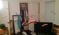 This person who made hot dog mistletoe:
